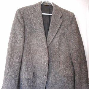 Vintage Harris Tweed Grey Herringbone Jacket